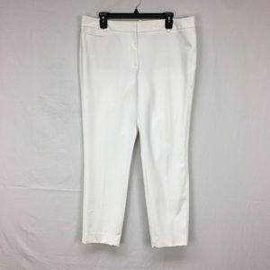 White House Black Market White Slim Ankle Pants